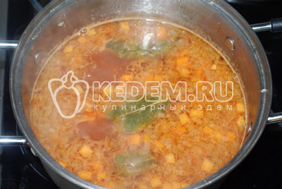 Суп с консервированной фасолью