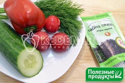 Овощи и зелень промыть и обсушить. - Салат на природу «Остренький». Пошаговый кулинарный рецепт с фотографиями приготовления овощного салата с корейской морковью, начос и икрой из морских водорослей в майонезном соусе