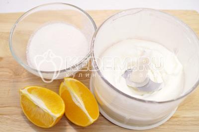 Добавить сахар и половинку сока апельсина. Хорошо взбить. - Десерт из печенья со сливками. Пошаговый кулинарный рецепт с фотографиями приготовления десерта из печенья со сливками