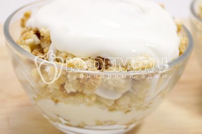 Убрать в холодильник на пару часов для пропитки. - Десерт из печенья со сливками. Пошаговый кулинарный рецепт с фотографиями приготовления десерта из печенья со сливками