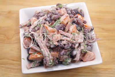 Красная фасоль колбаса салат — photo 7
