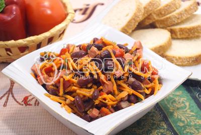 вкусный салат рецепт корейской морковью