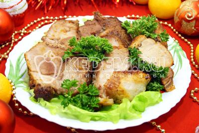 Мясо с помидорами и грибами под сыром в духовке рецепт 57