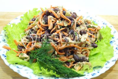 Салат из фасоли на праздничный стол рецепты с