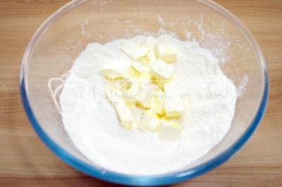Песочный пирог с творогом