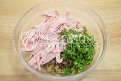 Аппетитные блинчики с колбасой и зеленью - рецепт пошаговый с фото