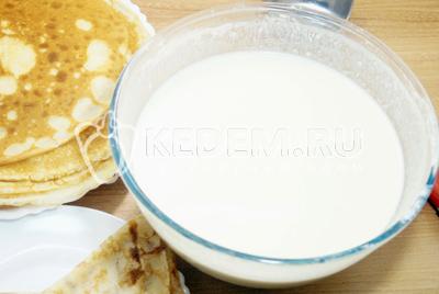 Тесто для блинов на молоке