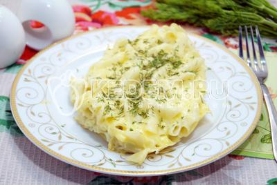 Запеканка из макарон с яйцами