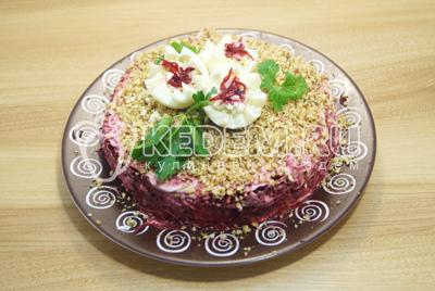 Салат из свеклы с рисом