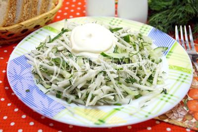 Салат из черной редьки «Леда»