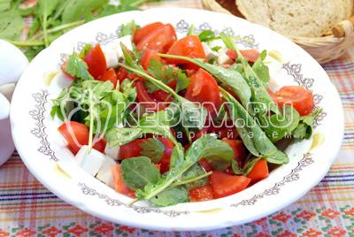 Салат с рукколой «Аннет»