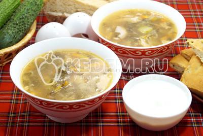 Зелёный суп с щавелем