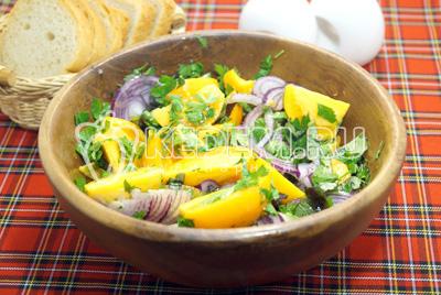Салат из помидор с луком «Осенний»