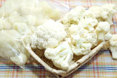 цветная капуста рецепты на зиму-заморозить