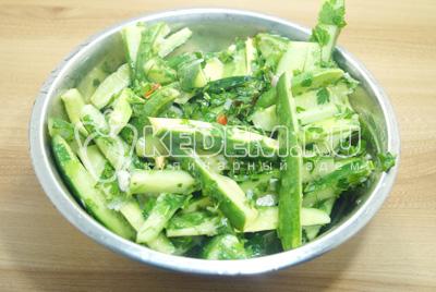 салат из огурцов пальчики оближешь пошаговый рецепт