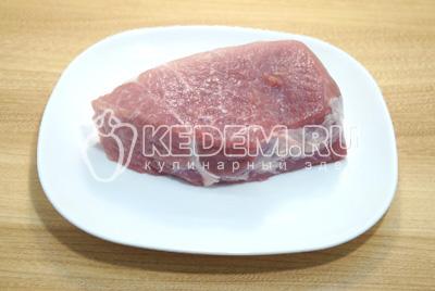 Тыква с мясом в духовке