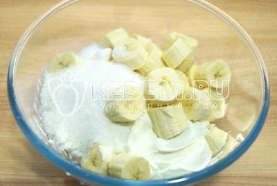 Банановый чизкейк с творогом