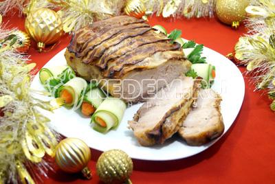 Мясо с беконом «Новогодний романс»