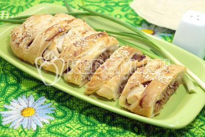 Крабовый пирог пошаговый рецепт