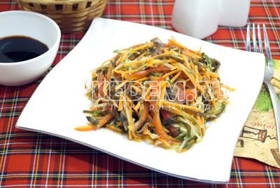 салат из зеленых помидор самый вкусный рецепт