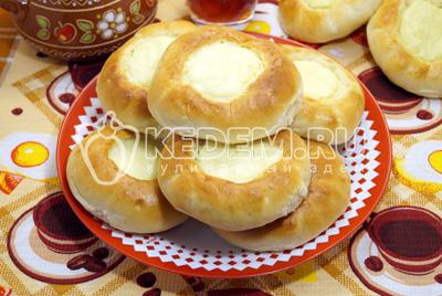 Шаньги, ватрушки с картофелем