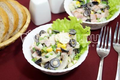 Салат с маринованными грибами «Венгерка»