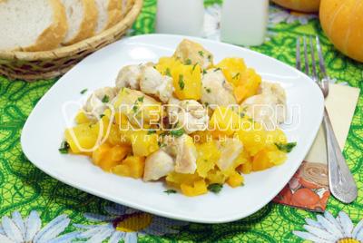 Курица с тыквой «Вкус осени»