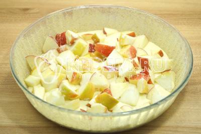 Добавить слой яблок.