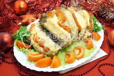 Мясо с помидорами и сыром «Новый год»