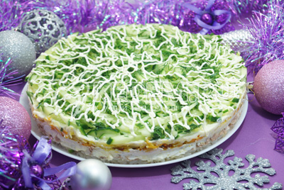 Слоеный салат «Хвойная шуба»