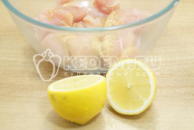 Добавить лимонный сок.