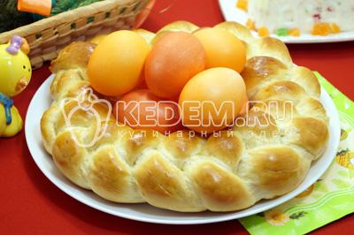 Пасхальный венок для яиц