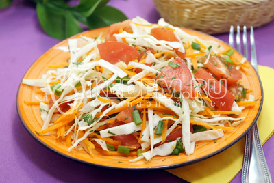 Салат из свежей капусты «Наоми»
