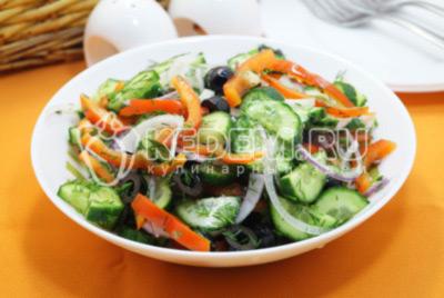 Овощной салат «Постный» с маслом