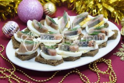 Бутерброды на праздничный стол с сельдью