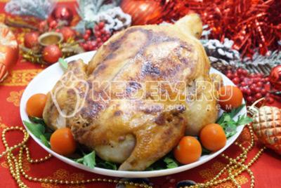 Курица запеченная в духовке с лимоном