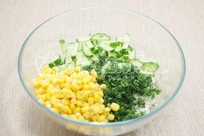 Салат из капусты с консервированной кукурузой