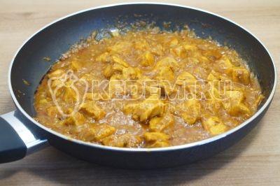 Курица карри с рисом