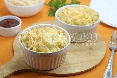 Макароны с плавленым сыром в духовке