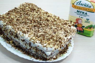 Торт «Новинка» со сметанным кремом