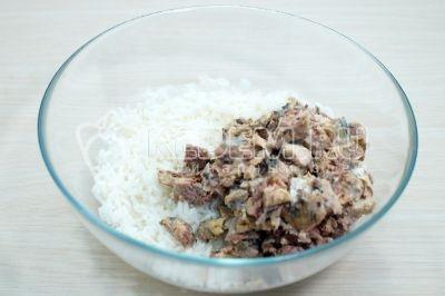 Рыбный салат с рисом