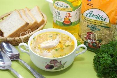 Куриный суп с пшеном