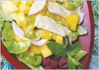 Салат из индейки и манго – рецепт приготовления салата из индейки и манго
