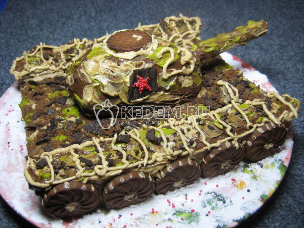 Рецепт торт танк пошагово