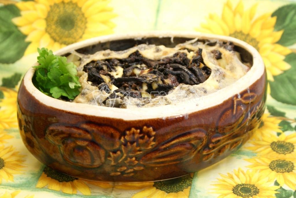 рецепт тушЮного картофеля с грибами