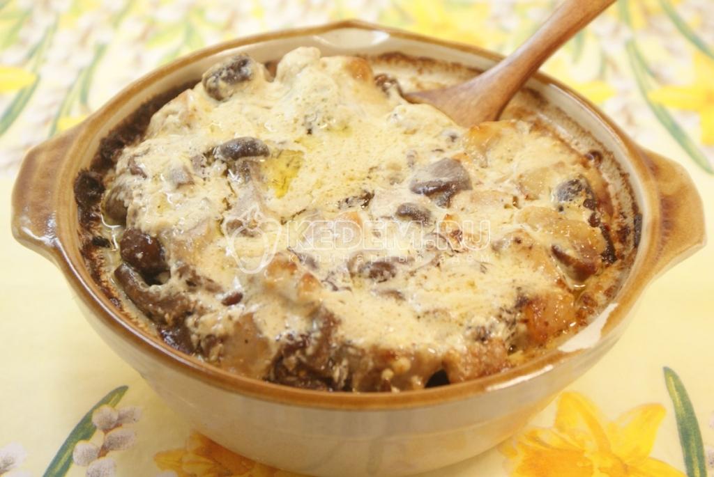 Жаркое с стручковой фасолью и опятами. Кулинарный рецепт приготовления жаркого с стручковой фасолью и опятами.