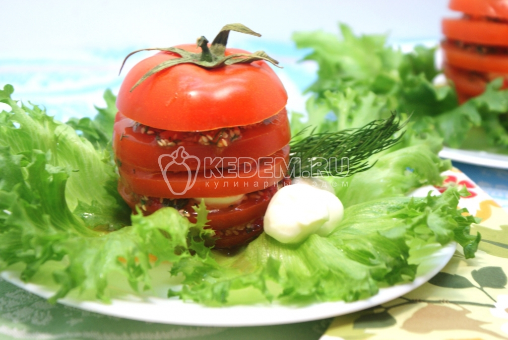 рецепт закуски хрен с помидорами #11