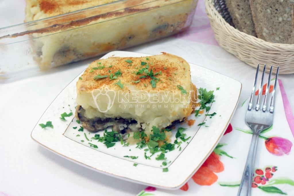 Картофельная запеканка с грибами. Пошаговый кулинарный рецепт с фотографиями приготовление картофельной запеканки с грибами.