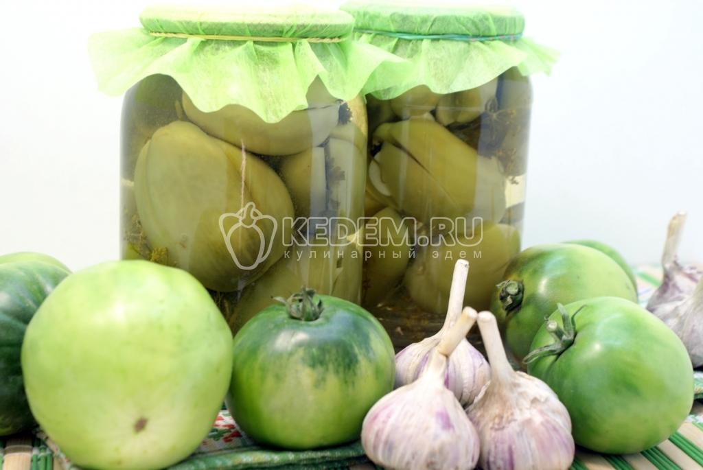 салаты на зиму зеленые помидоры рецепты с фото