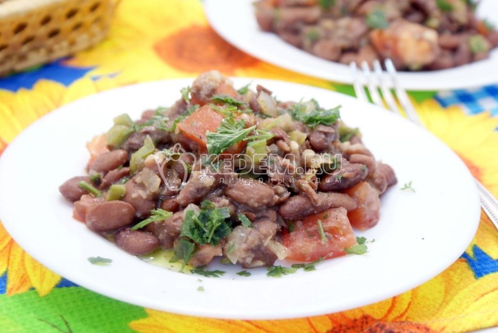 рецепты салатов фасоль с овощами